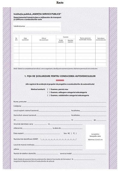 Regulamentului cu privire la permisul de conducere